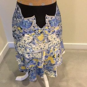 Carlisle 💯silk layered skirt!